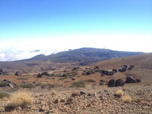 Panorama while claiming the Volcano Teide
